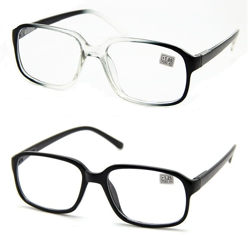 Reading Glasses Large Frame : Large Oversized Square Nerd Thick Frame READING GLASSES ...