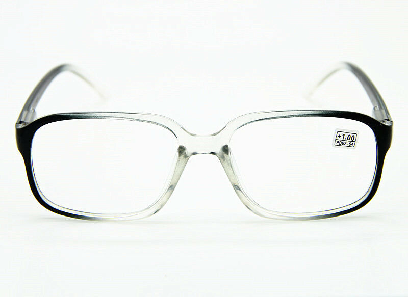 Reading Glasses Large Frame : Fashion Large Oversized Square Transparent Frame READING ...