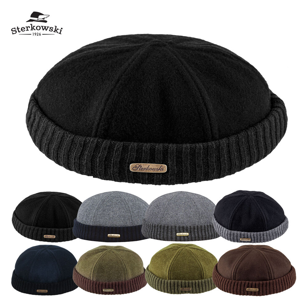 Woolen Cloth Navy Watch Cap   Winter Docker Hat Leon Beanie Fisherman Sailor   e184b622e56