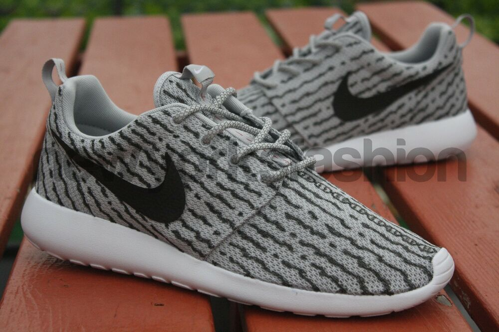 tnshv New Nike Roshe One Run Custom Grey Yeezy Boost 350 Men & Women | eBay