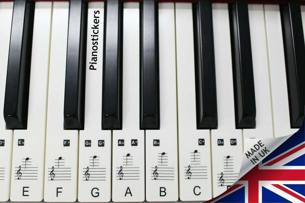 Music Keyboard or Piano Stickers 88 KEY SET learn to play ...