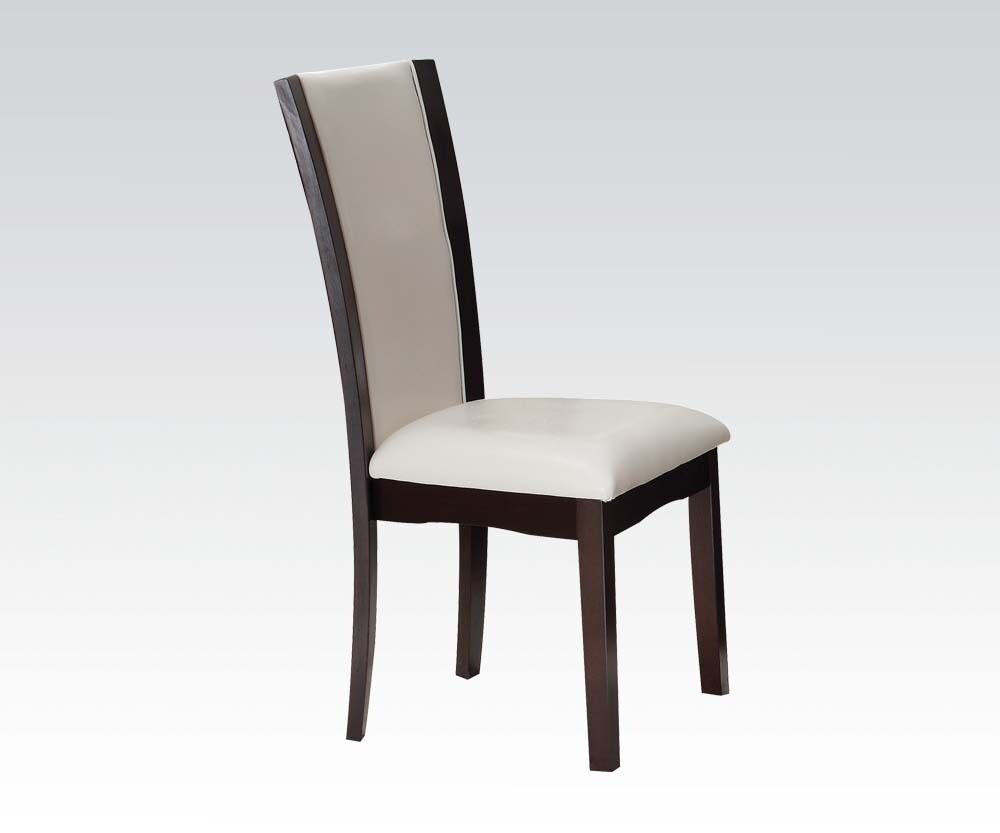 Unique style modern high back dining chairs white pvc for Modern high back dining chairs