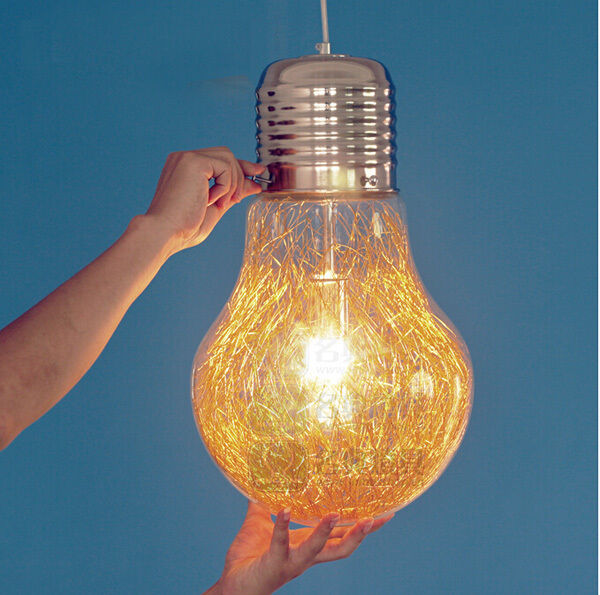 Retro Industrial DIY Bulb Globe Glass Ceiling Lamp Pendant