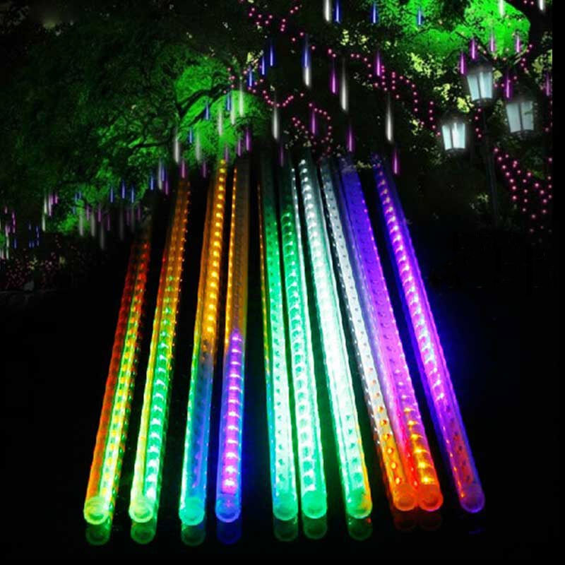 Led Icicle String Lights With Ice Drop : 10x 30/50cm LED Meteor Shower Rain Drop/Icicle Snow Fall Tube Xmas String Light eBay