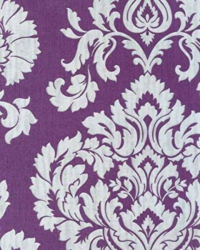 fd20327 classics large damask metallic purple silver