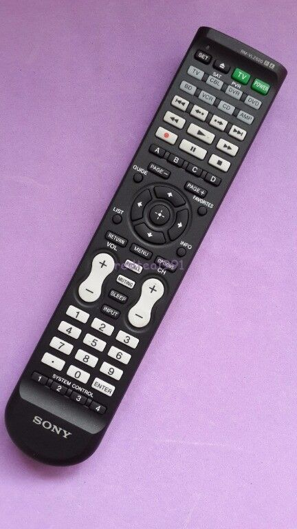Sony rmvlz620 8 component universal remote control rm for 1000 in 1 universal a c remote code table