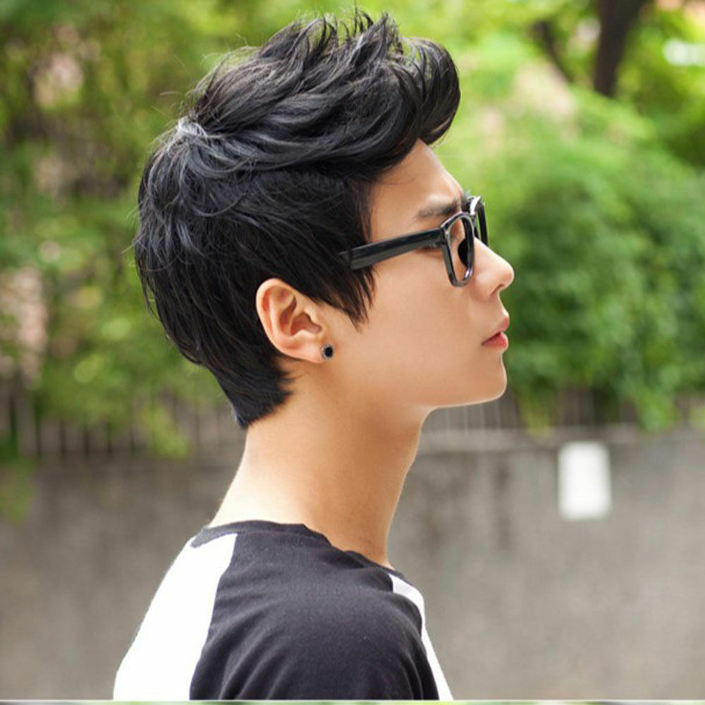 Mens Male Wig Handsome Vogue Sexy Boys Short Hair black ...