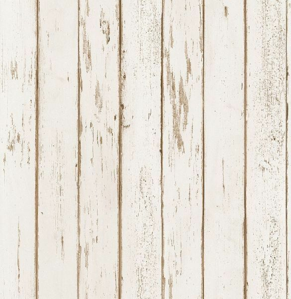 299068 Cream Shabby Chic Rustic Worn Wood Effect Feature