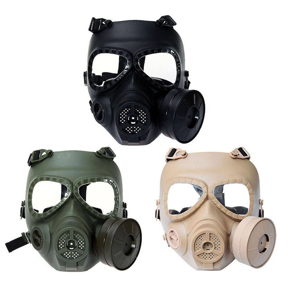 Anti Fog Airsoft Full Face Protector Gas Mask Goggles