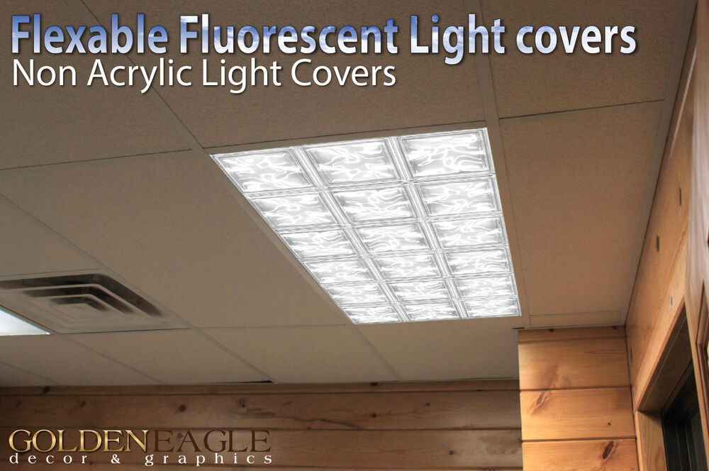 Fluorescent Light Panel Diffuser Cover Home Classroom Ceiling Office 33