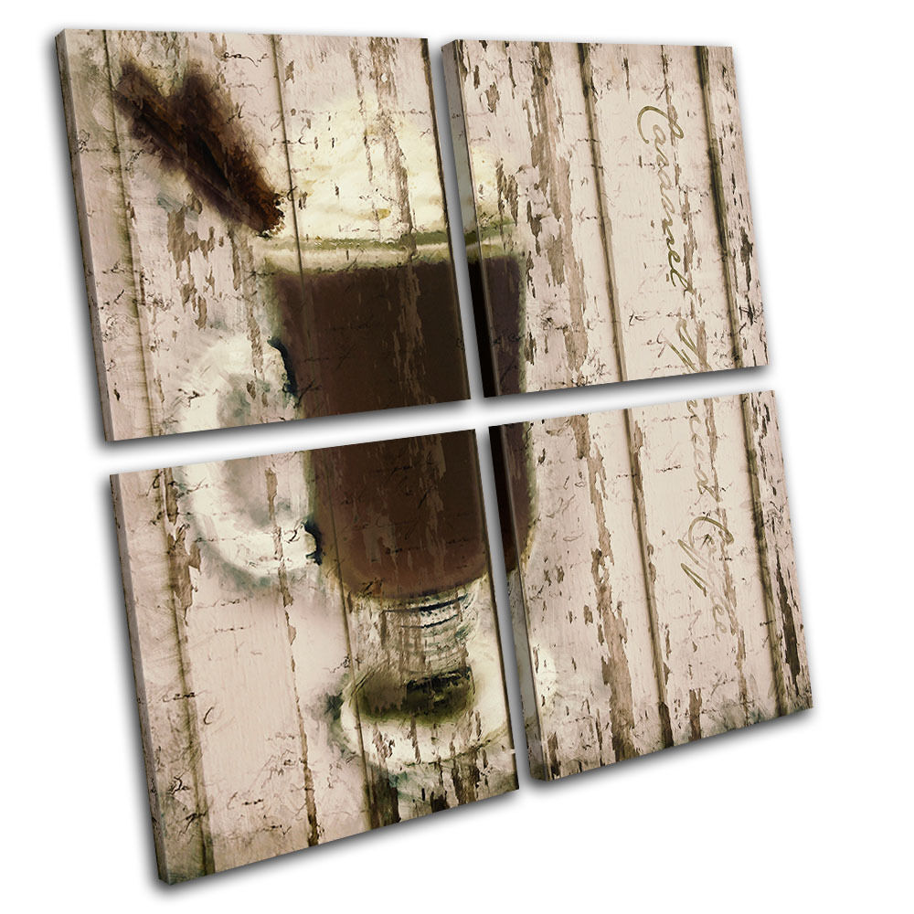 Cafe Coffee Caramel Food Kitchen CANVAS WALL ART Picture