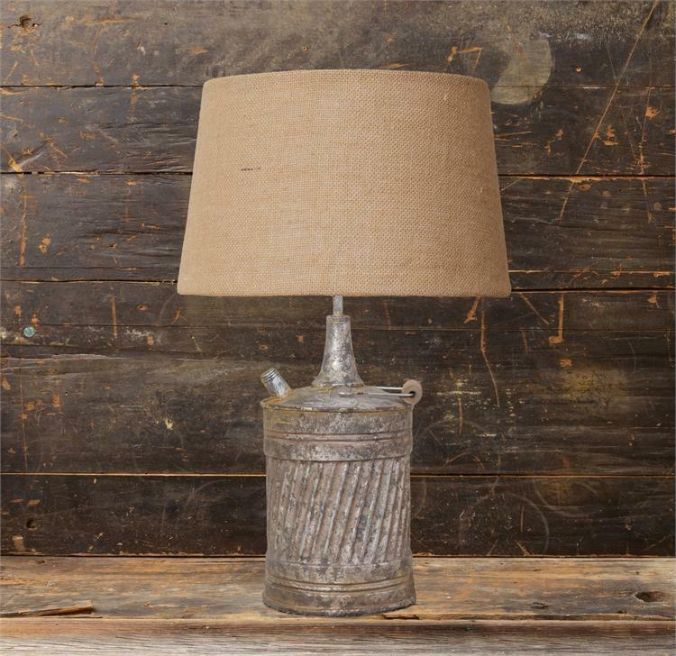 New Primitive Country Antique Style Vintage Gas Can Lamp Electric Table Light Ebay
