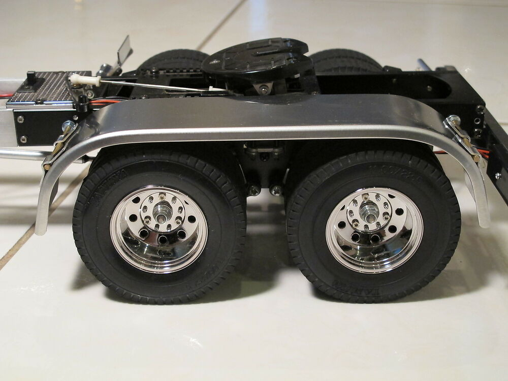 Aluminum Truck Fenders : Aluminum dual rear fender for tamiya r c toy semi