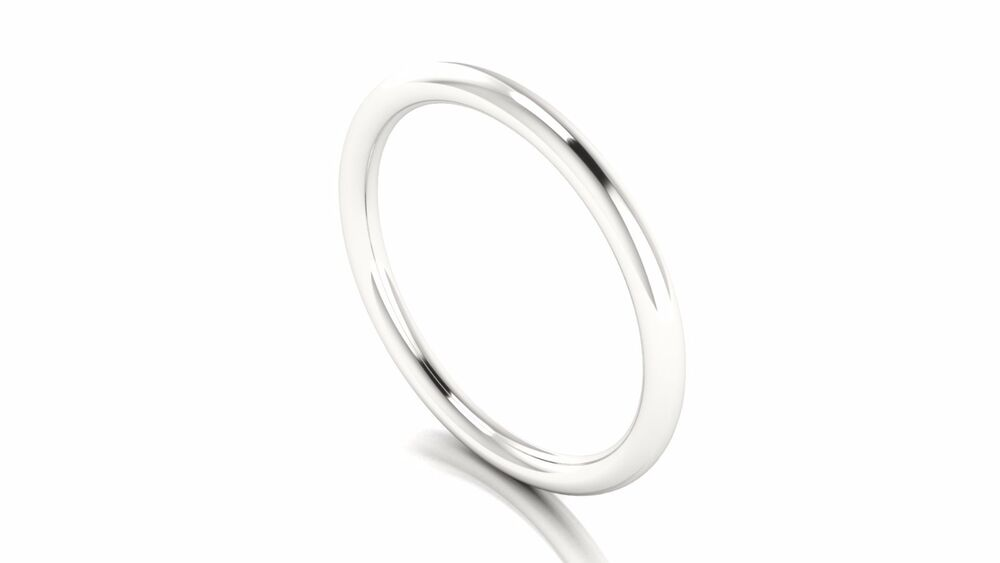 solid 10k white gold stacking ring toe ring thumb ring
