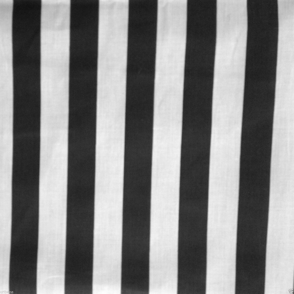 Black And White Striped Fabric Poly Cotton Fabric Sewing