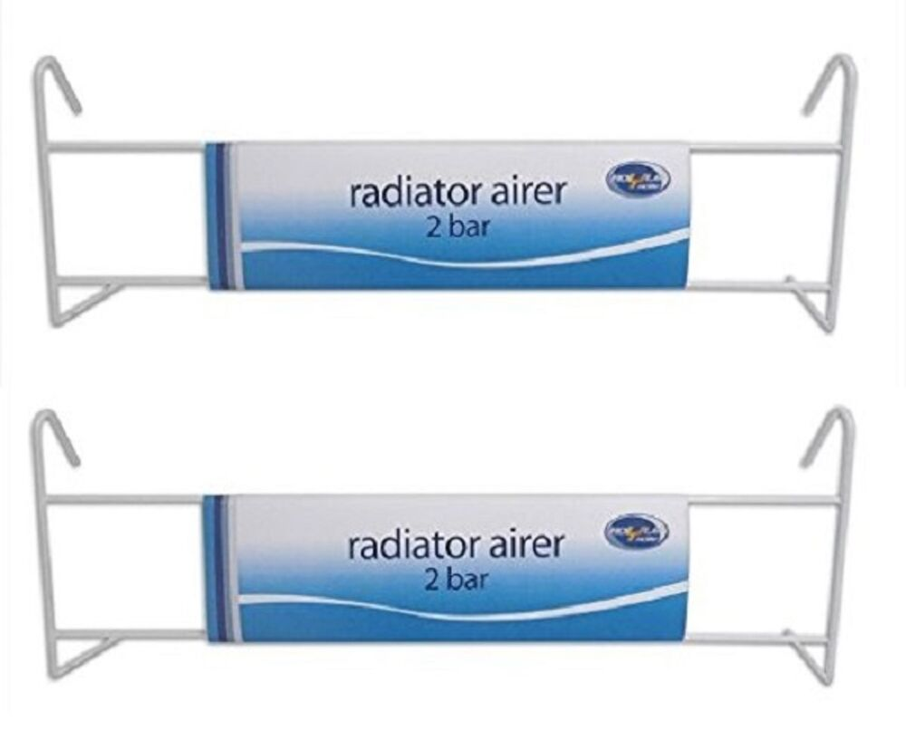 2 X 2 Bar Radiator Airer Hanger Drier Laundry Clothes