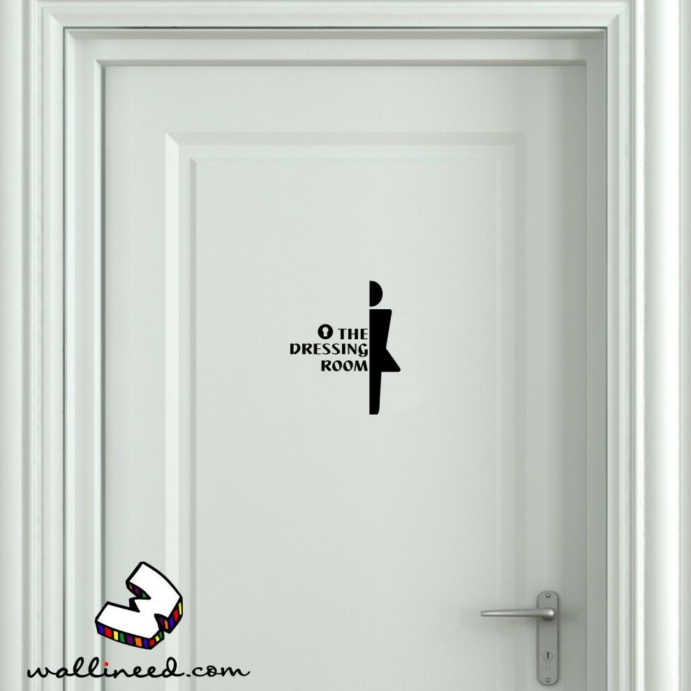 The Dressing Room Door Sticker Dressing Door Sign Door