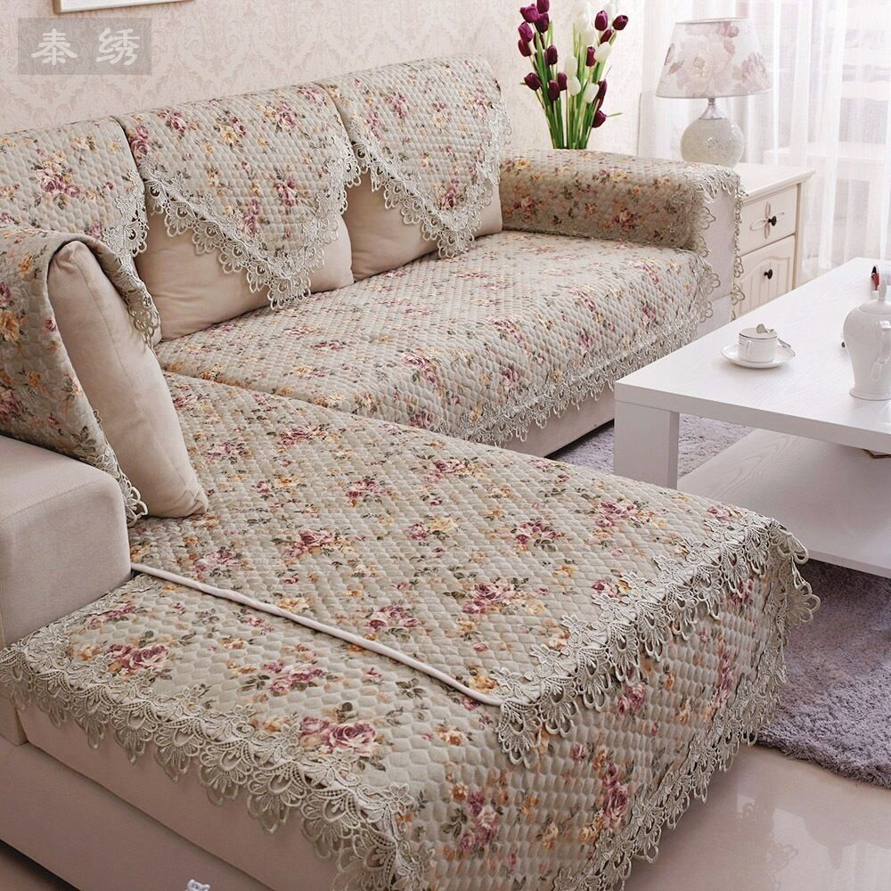 Hbz267 Lace Quilted Sofa Chair Settee Arm Chair Pet