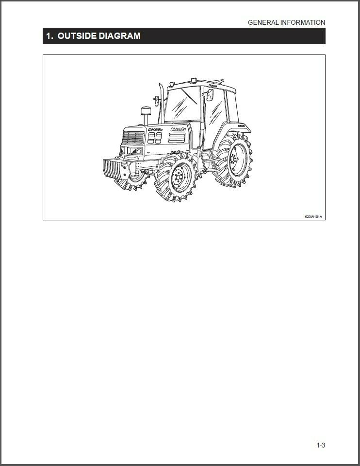 Kioti Dk65 Tractor Repair Service Workshop Manual Cd