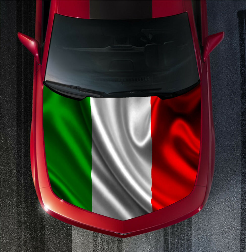 H57 Italy Italian Flag Hood Wrap Wraps Decal Sticker Tint