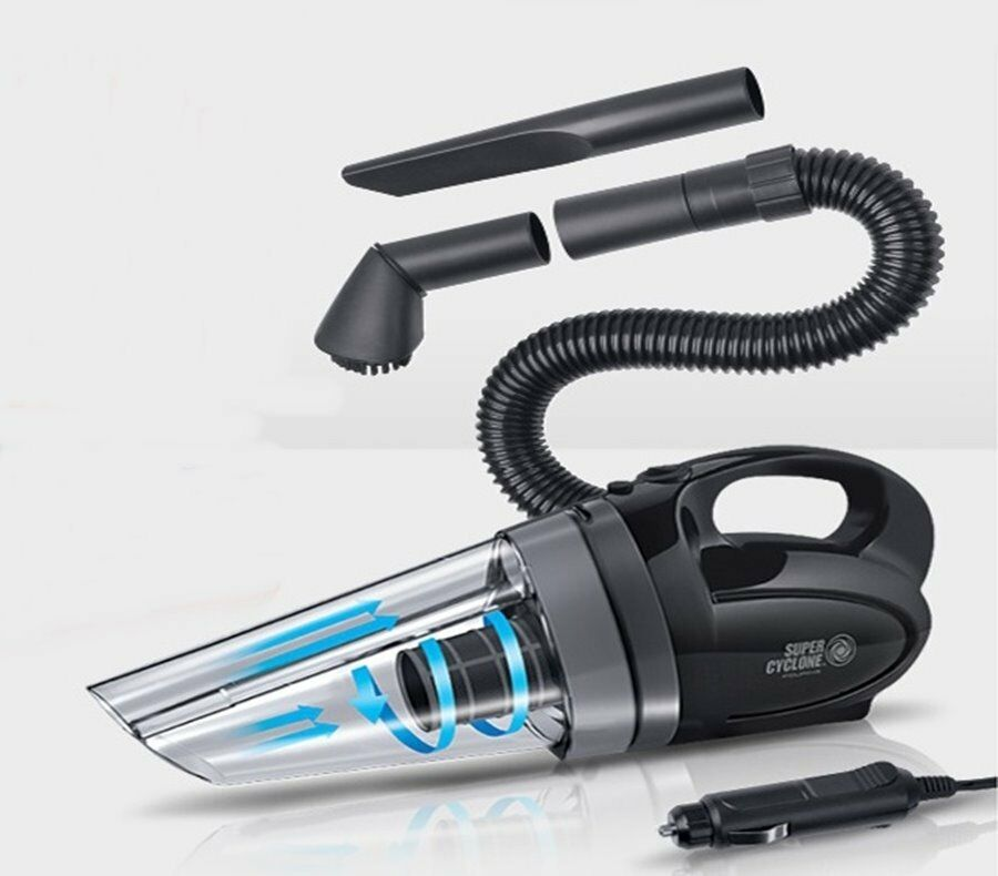 fouring portable super cyclone car handy vacuum cleaner vehicle interior cleaner ebay. Black Bedroom Furniture Sets. Home Design Ideas
