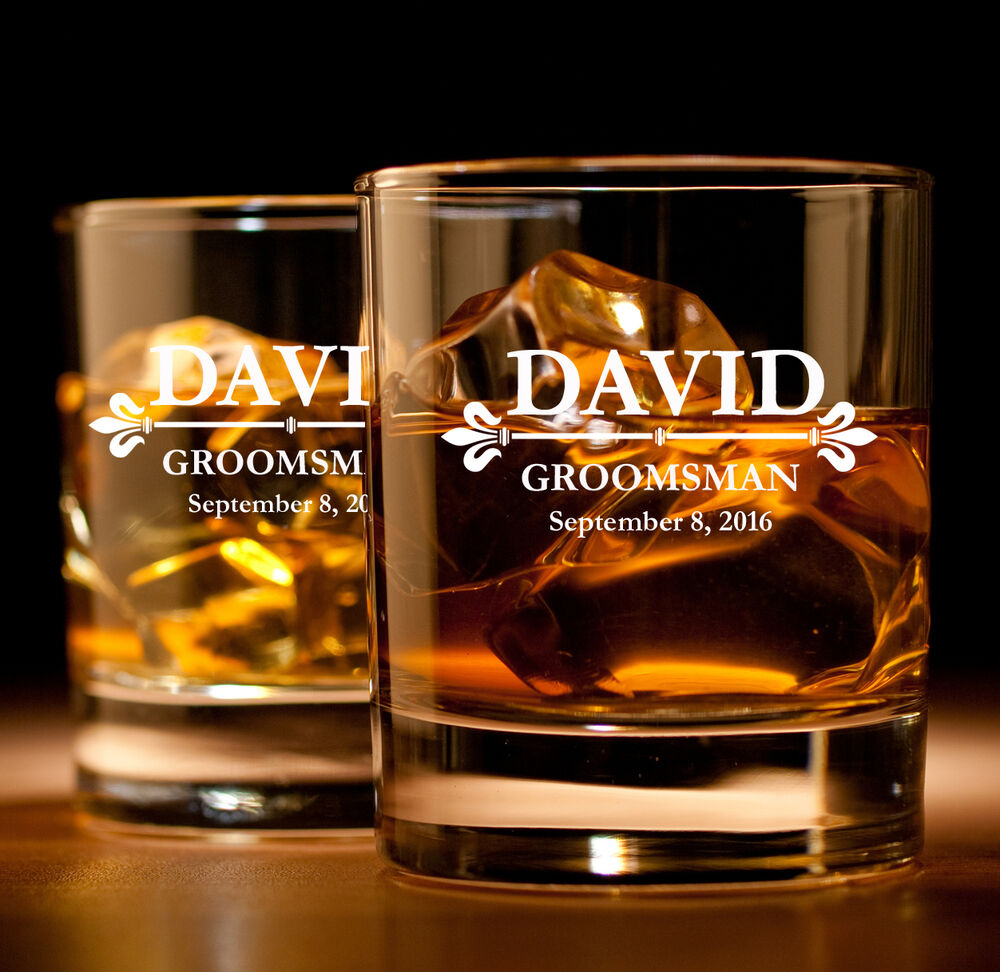 Engraved Crystal Scotch Glasses