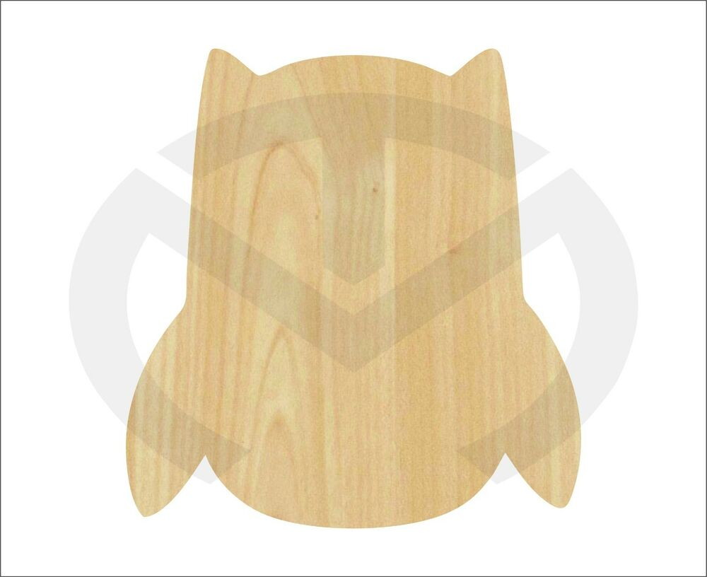 Unfinished Wood Owl Laser Cutout Wreath Accent Door