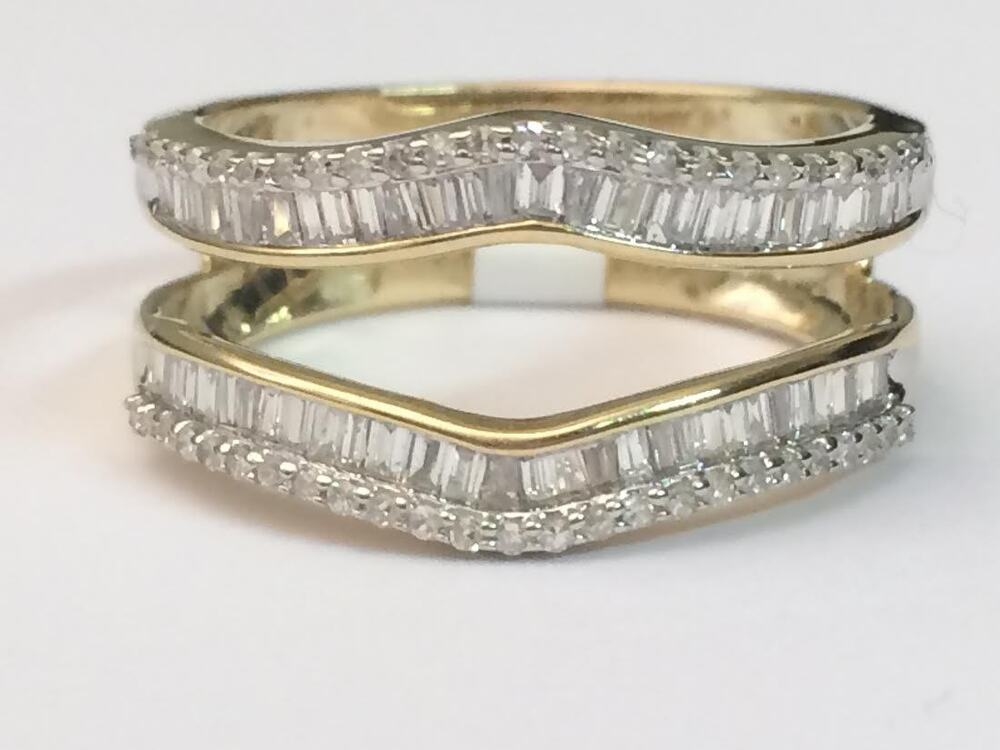 Yellow Gold Ring Guards Wraps
