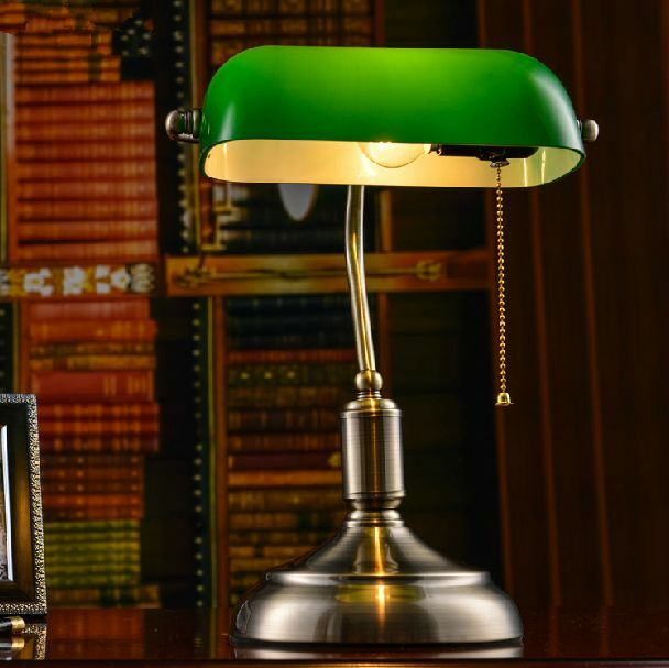 Retro Library Table Study Lamp Bedroom Desk Light Home