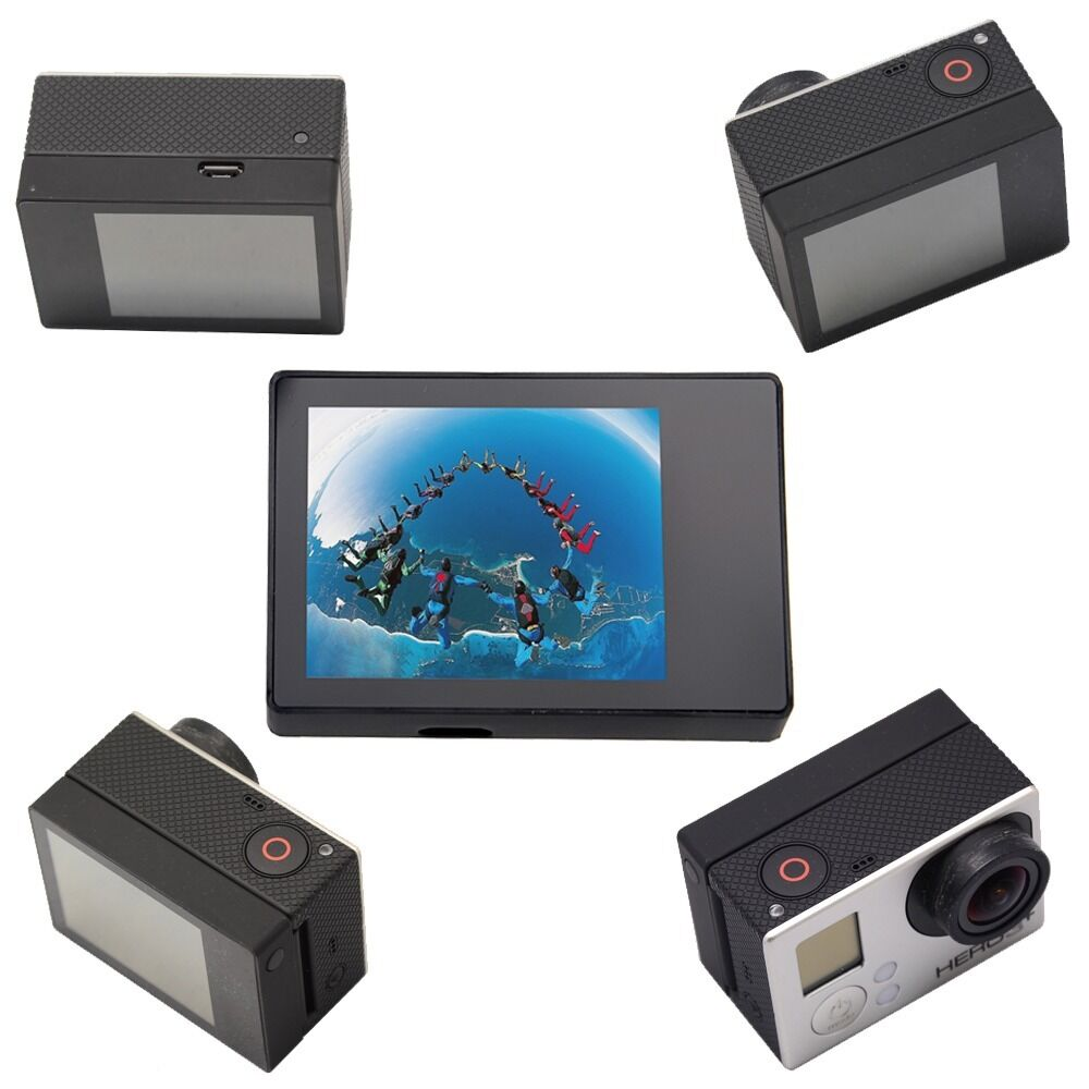 Pro Lcd Bacpac Display Viewer Monitor Screen W Rear Back