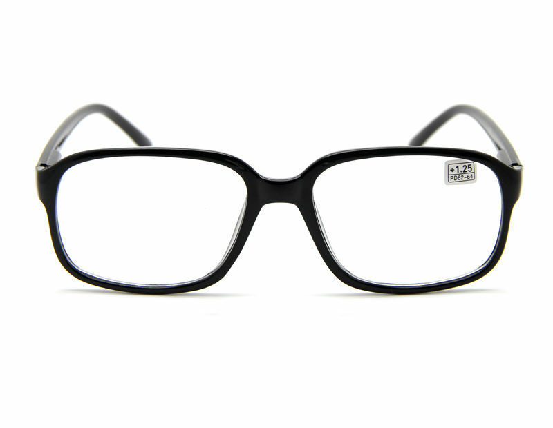 Reading Glasses Large Frame : Retro Unisex Black Frame Big Oversized Square READING ...