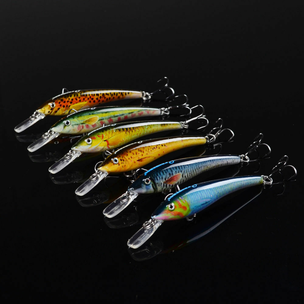 New lot 6pcs paint fishing lure exported baits for Fishing lure paint