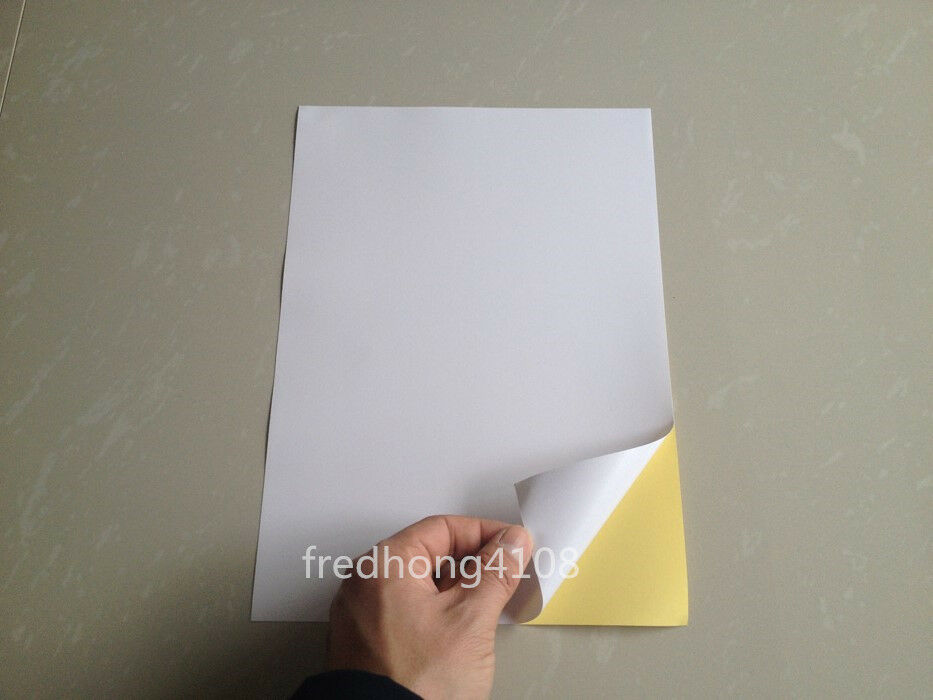 how to use a4 adhesive paper