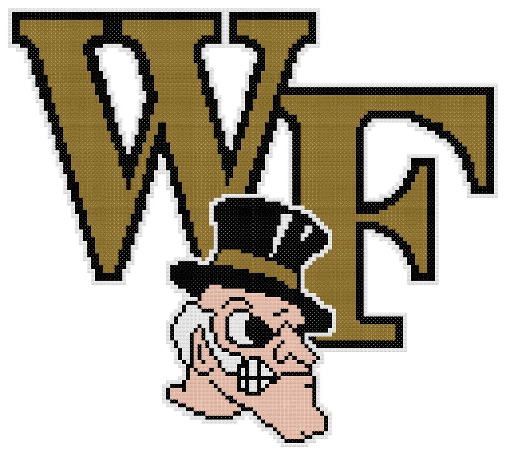 Counted Cross Stitch Pattern Wake Forest Demon Deacons