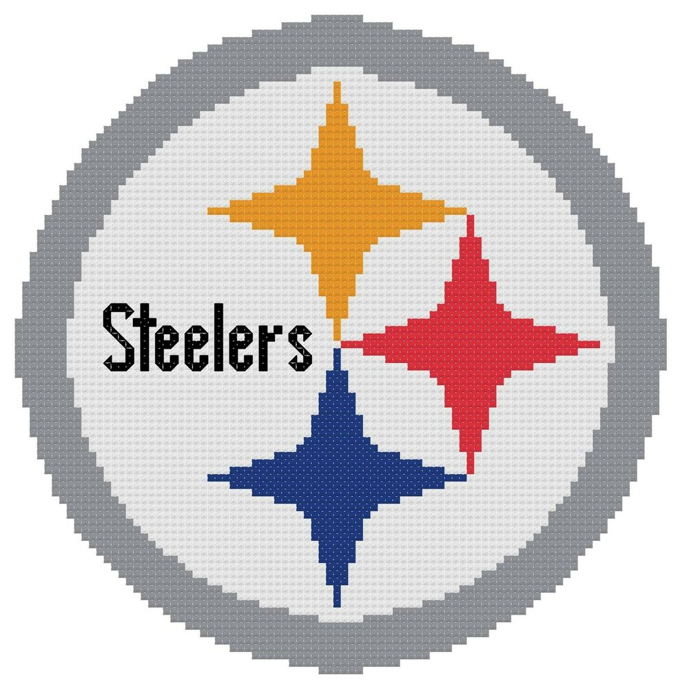 Counted Cross Stitch Pattern Pittsburgh Steelers Logo