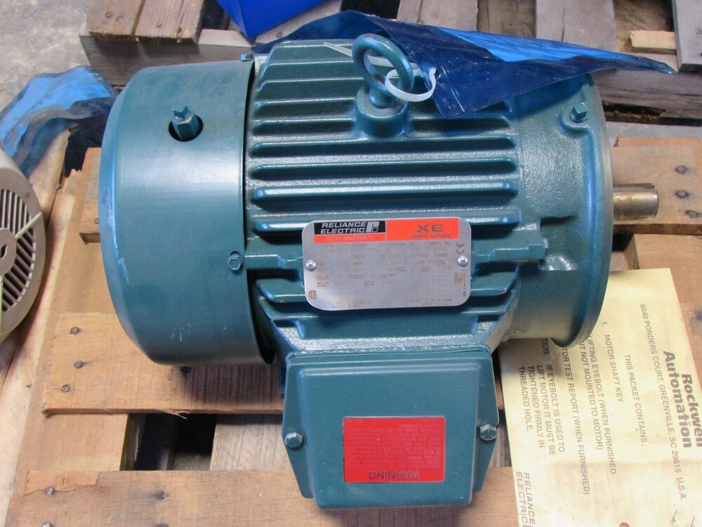 Reliance Electric Motor P18g7551a Hp 5 230 460v 3505 Rpm 3