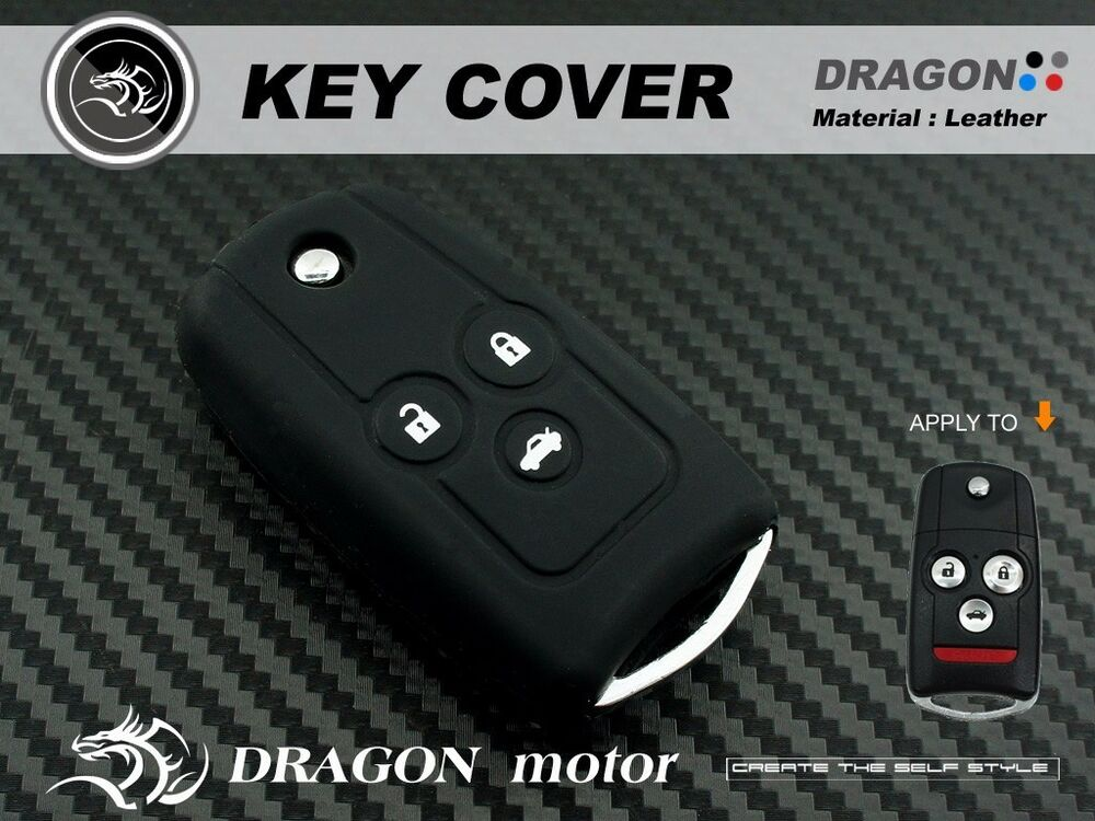 Silicon Keyfob Holder Case Chain Cover Fit For Honda