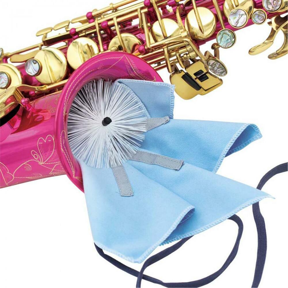 musical instrument saxophone swab cleaning cloth kit with brush weighted cord ebay. Black Bedroom Furniture Sets. Home Design Ideas