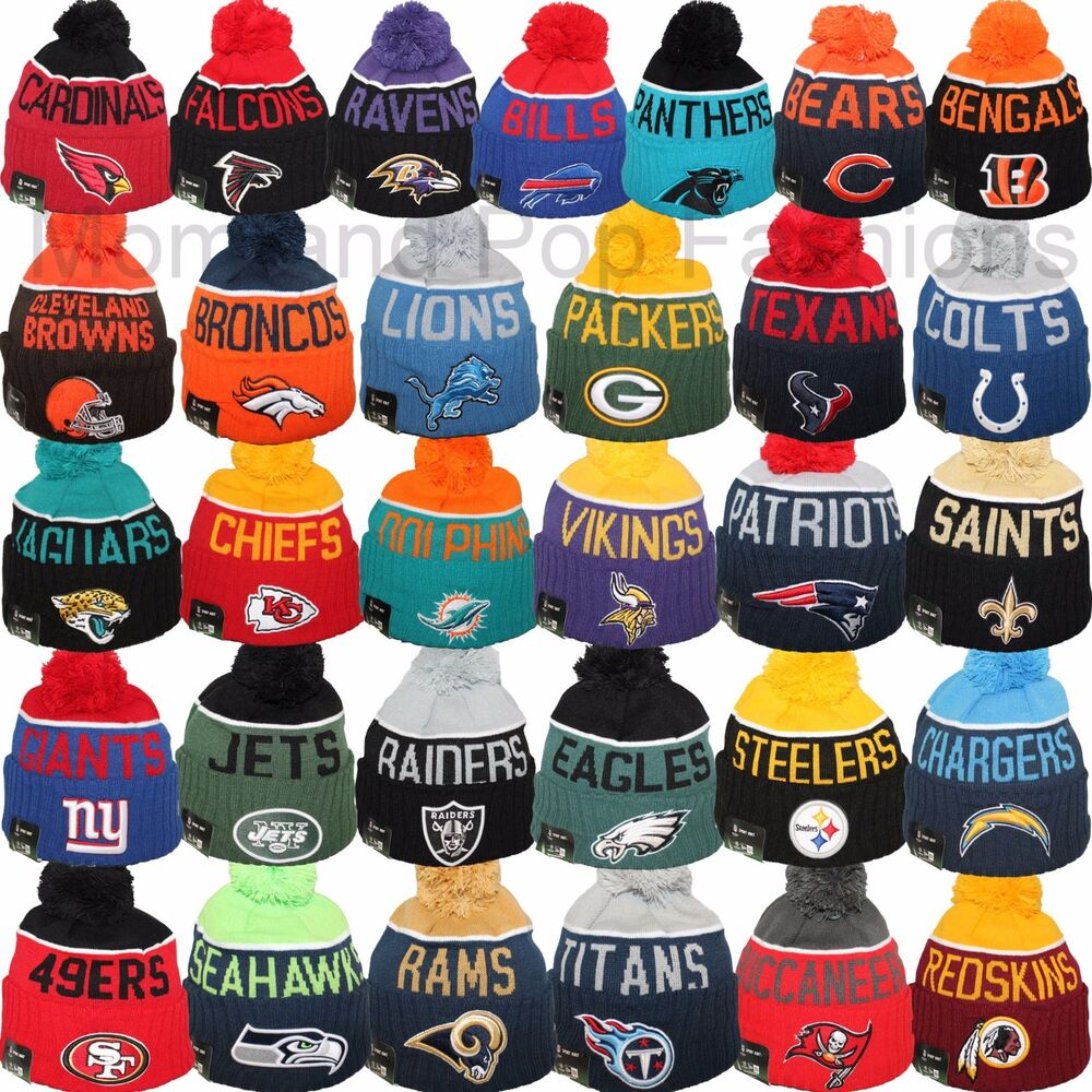 9665830cb00 Details about New Era 2015 NFL ON FIELD OFFICIAL SIDELINE Pom Pom Sport  Knit Beanie Cap Hat