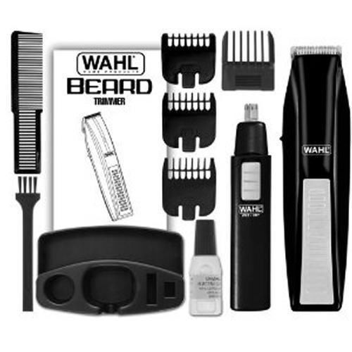 wahl 5537 1801 battery operated beard trimmer with bonus trimmer new free ship ebay. Black Bedroom Furniture Sets. Home Design Ideas