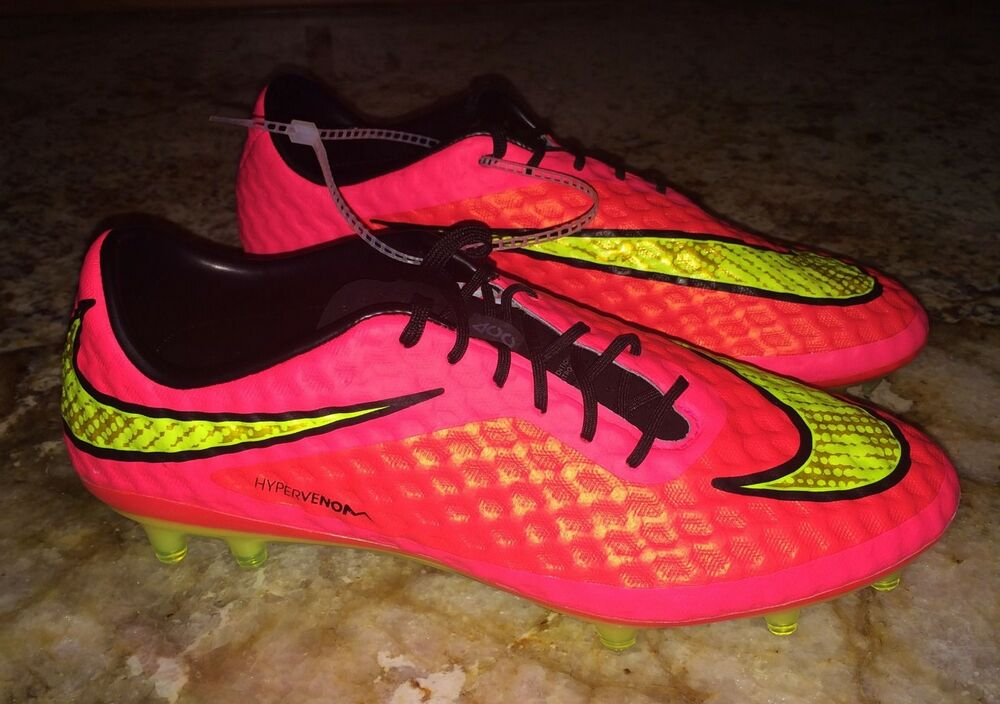 3304746ed873 Details about NIKE Hypervenom Phantom FG Hyper Punch Volt Crims Soccer  Cleats Boots NEW Mens 7