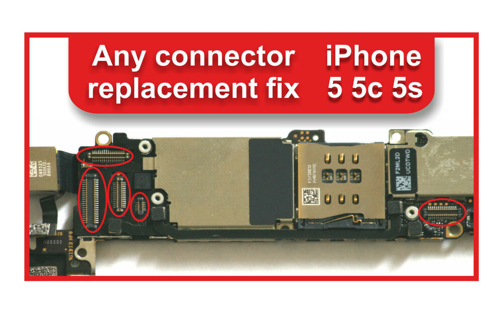 iphone 5c repair iphone 5 5c 5s logic board any connectors repair service 2933