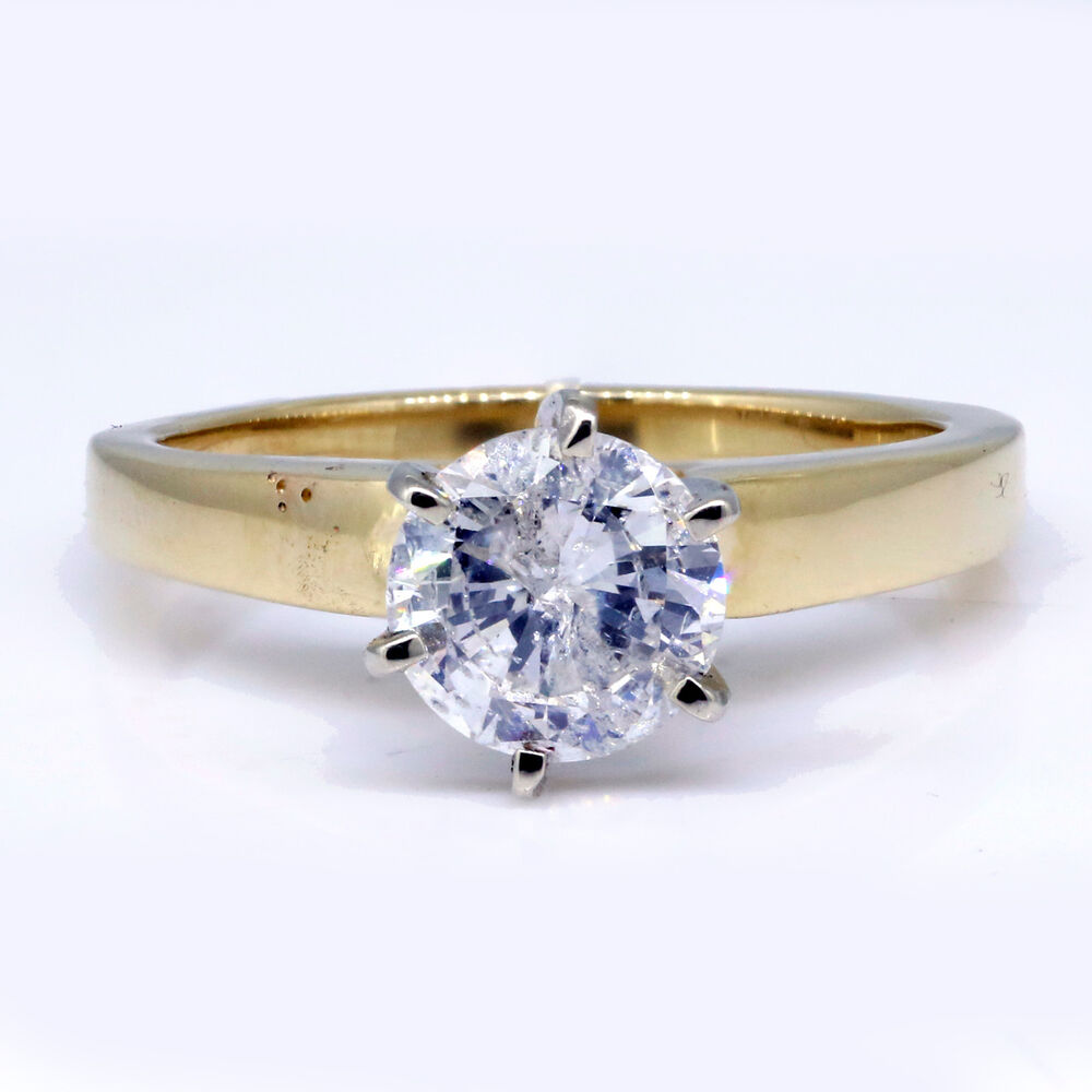 ct round cut diamond ring natural 0 solitaire 14k. Black Bedroom Furniture Sets. Home Design Ideas