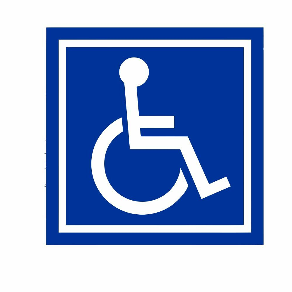 Handicap Accessible Ada Wheelchair Vinyl Decal Sticker