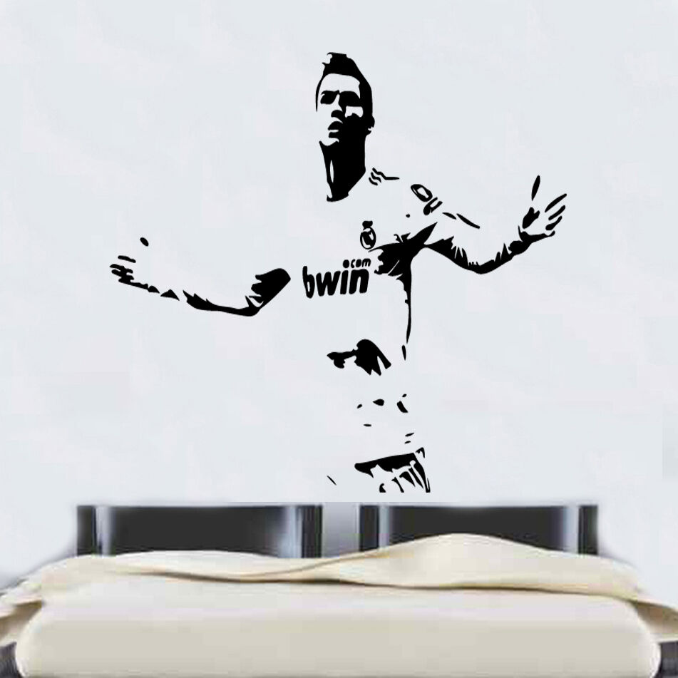 Ronaldo Football Real Madrid Quote Wall Stickers Art Room ...