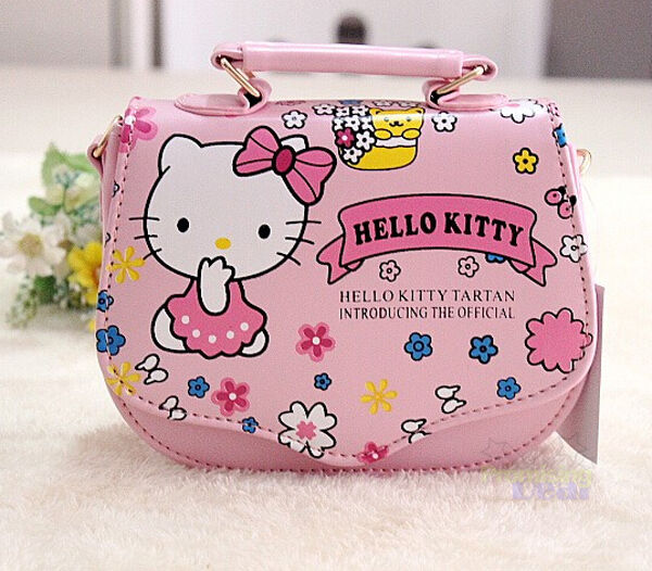 Elegant Loungefly Hello Kitty Duffel Bag Women Synthetic Pink Duffel Bag