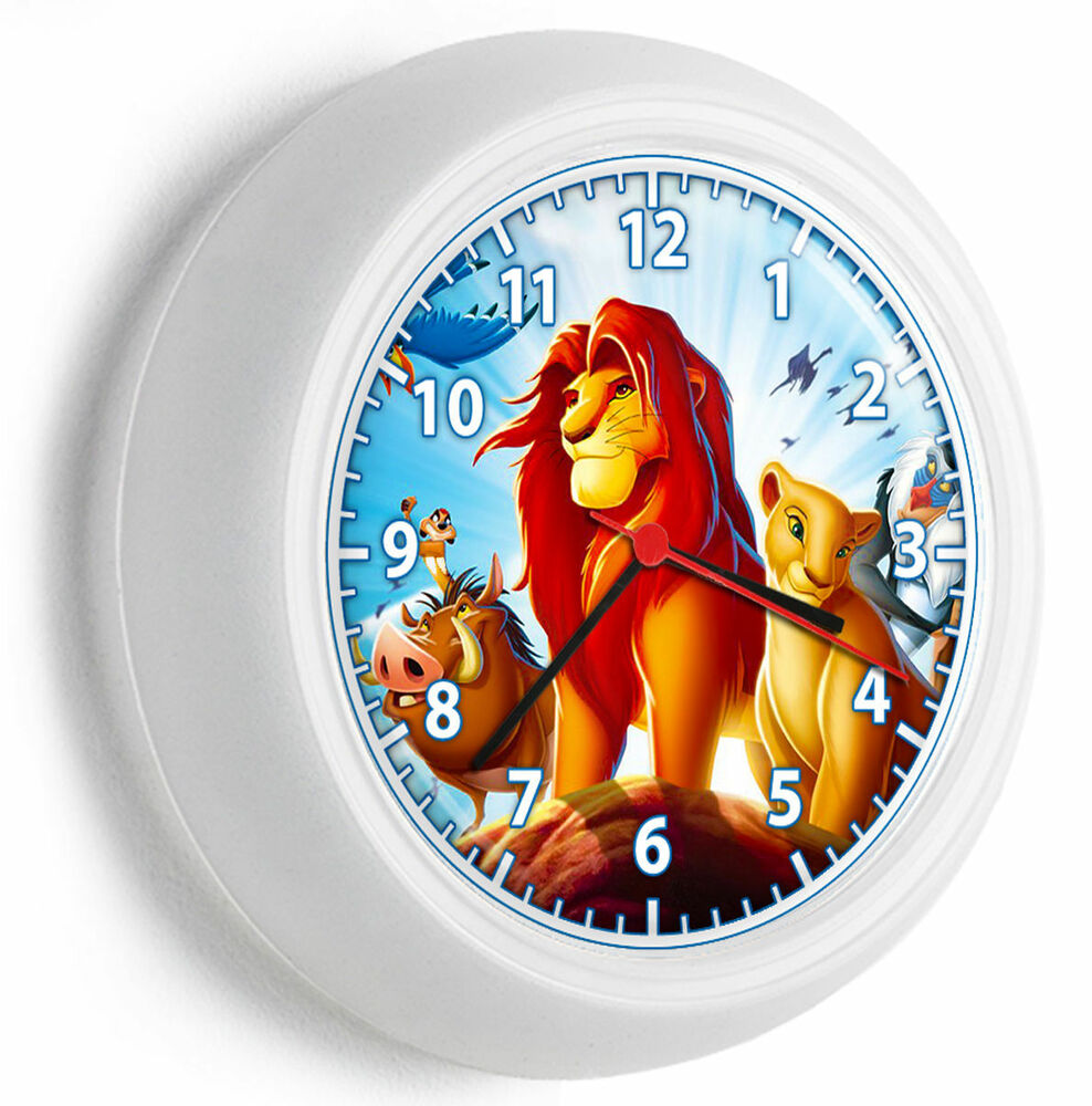 Bedroom Wall Clock Design : Lion king simba nala timon and pumba wall clock girls boys