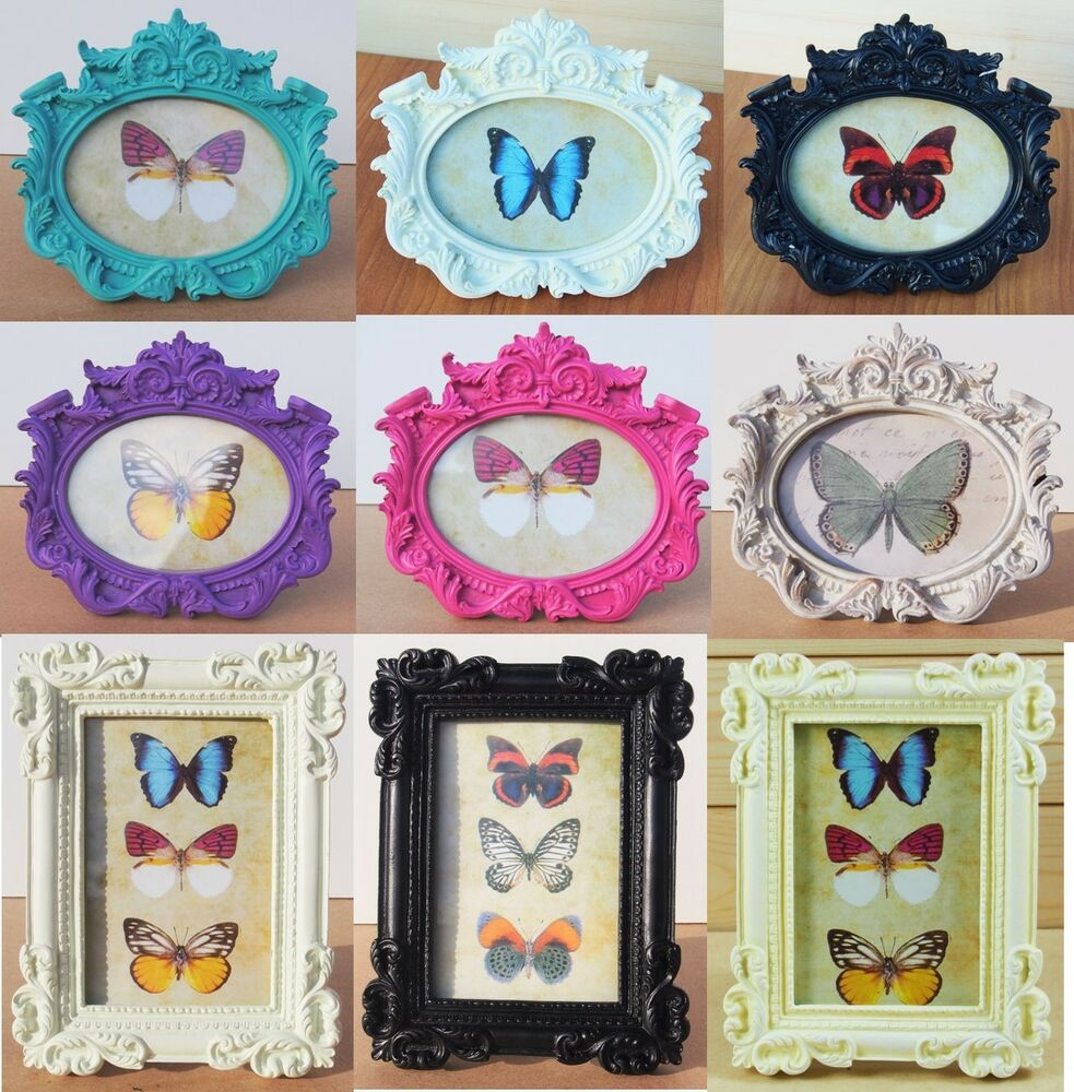vintage style oval photo frame antique picture holder shabby chic ornate gift ebay. Black Bedroom Furniture Sets. Home Design Ideas