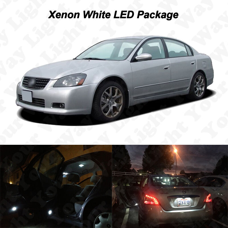 12 X White Led Interior Bulbs License Plate Lights For 2002 2006 Nissan Altima Ebay