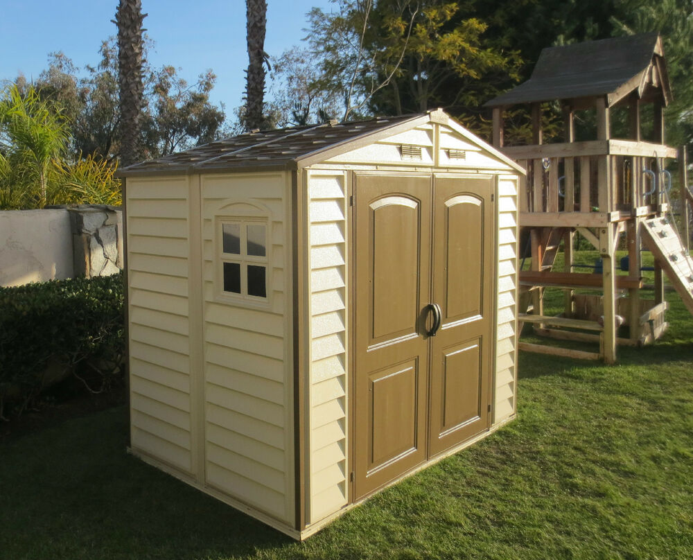 Duramax 8 X 5 26 Woodside Storeall Vinyl Shed W